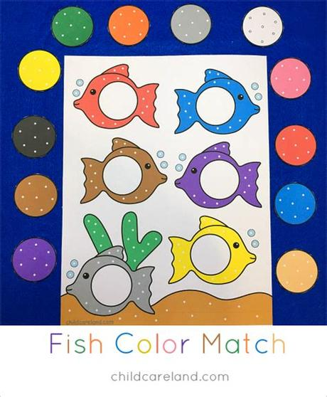 The games listed here are all about developing that skill of observation. Fish Color Match