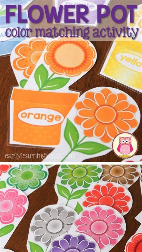 This color printable gives children fine motor practice as they manipulate the wheels to match the hearts, animals and color words. Teach colors plus many math activities with flower color ...