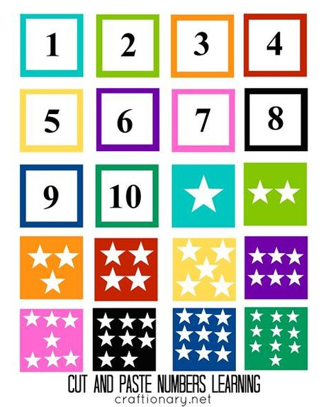 Matching games, board games, puzzles, and more, plus clip cards, color sorting. Number Matching Free Printable (Cut and Paste) - Craftionary