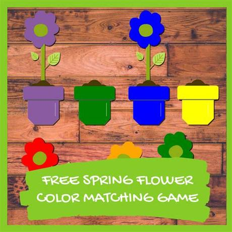 This color matching games for preschoolers is a 4 in 1 learning kit that i am using for my little boy. Spring Flower Color Matching Game (free Printable ...