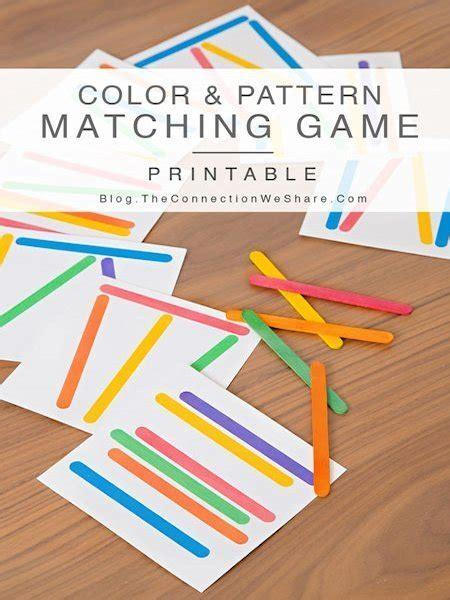 You can use this fruit loop rainbow printable template with fruit loops, skittles, m&m, or any other colorful snack you like. Color and Pattern Matching Game for Kids - Lesson Plans