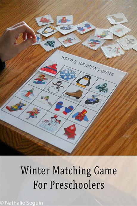 (left column) sticky shape rainbow activity | mom inspired life Winter Matching Game For Preschoolers | Thanks For Helping ...