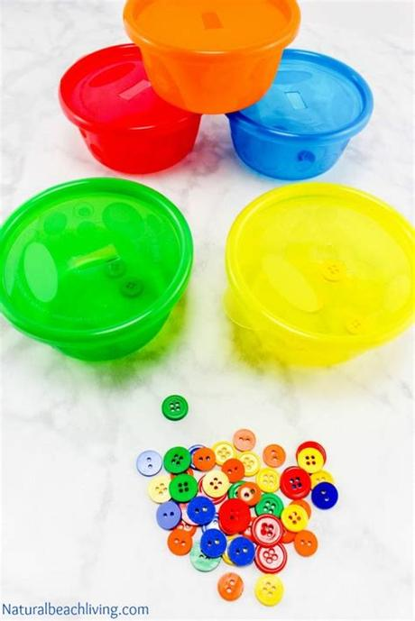 Shapes, colors, and numbers matching game. Easy Color Sorting Activities for Preschoolers & Toddlers ...