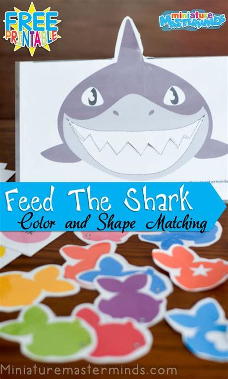 Pumpkin color matching from confessions of a homeschooler. Feed The Shark Colors And Shapes Matching Activity For ...