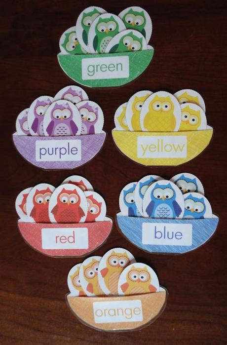 This game is great for children who are learning about colors such as green, violet, red, orange, yellow, and blue. Owl Color Match Activity | Preschool colors, Color ...