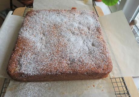 Rhubarb Buttermilk Picnic Cake