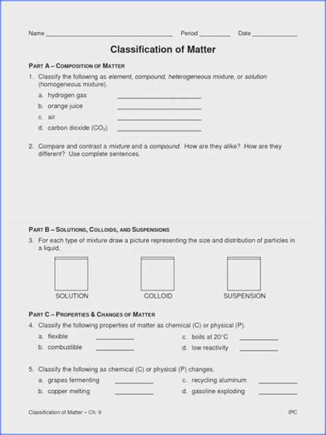 Classification of matter worksheet chemistry answers nidecmege cute766 from i0.wp.com matter can be classified by its state. Classification Of Matter Pogil / Types of Chemical ...