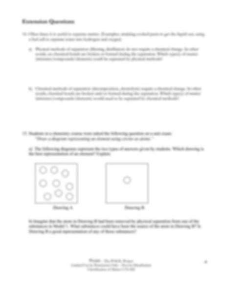 That matter may be pure or it may be a mixture. pogil_matter.original.pdf - Classification of Matter How ...