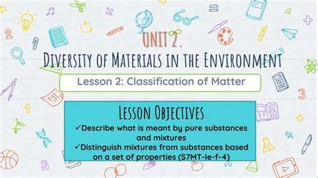 The first thing we must understand is what matter is. Classification of Matter - YouTube