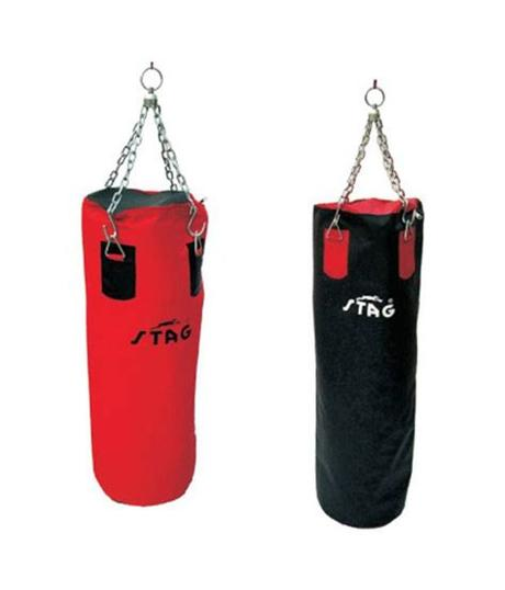 Find and unscrew the cap on the bag's plastic core. Stag BOXING PUNCHING BAG 120CMS: Buy Online at Best Price ...