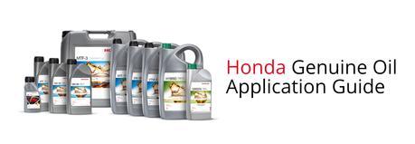 Oil Application Guide By Honda