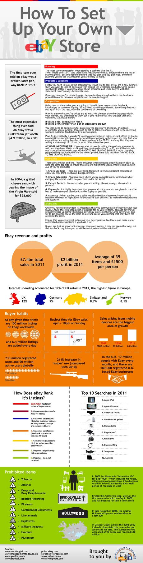 Infographic on Setting Up An Ebay Store