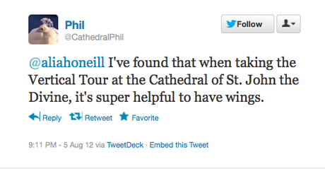Cathedral Phil The Peacock Tweets From St John The Divine (NYC)