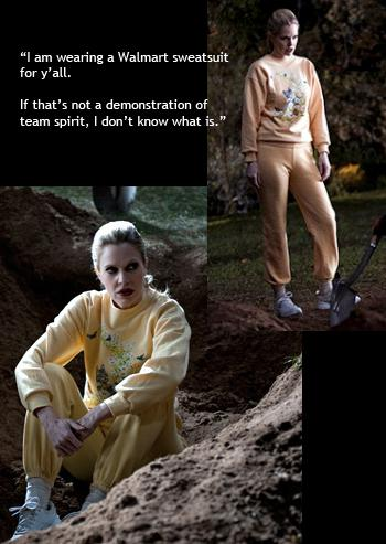 "True Blood ""Walmart"" sweatsuit to be auctioned off by Kristin Bauer for Out for Africa documentary"