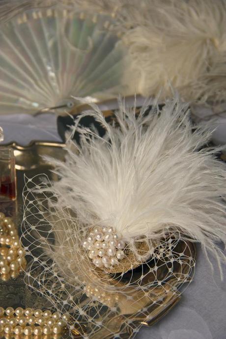 vintage ostrich feather wedding (6)