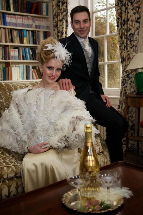vintage ostrich feather wedding (11)