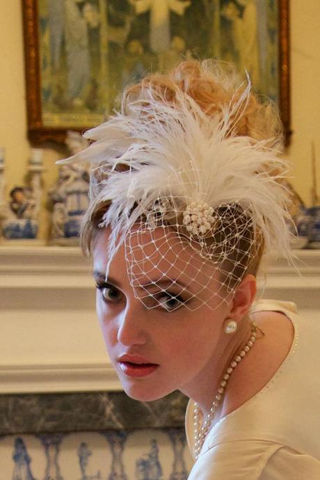 vintage ostrich feather wedding (5)