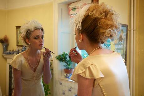 vintage ostrich feather wedding (2)