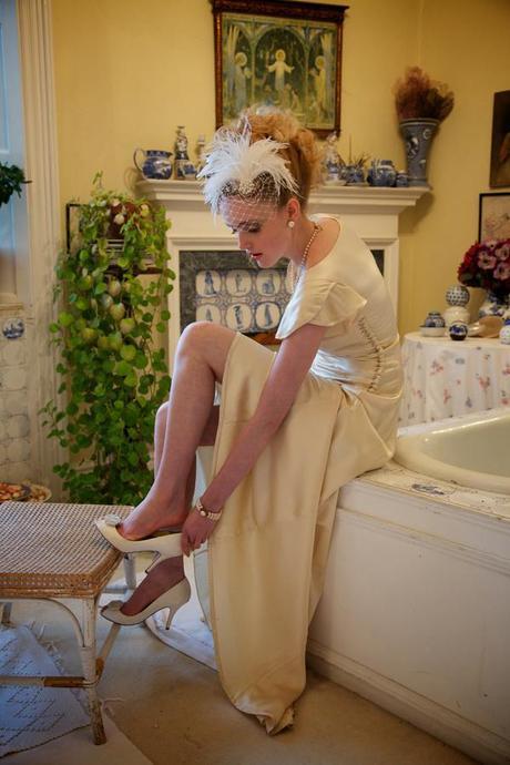 vintage ostrich feather wedding (3)
