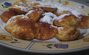 A dish of poffertjes.