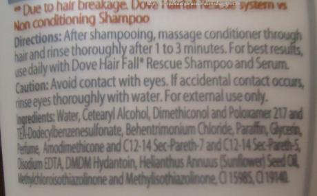 Dove Damage Therapy Hair Fall Rescue Conditioner Review