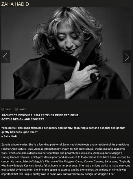 Zaha Hadid Designs The Bottle For Donna Karan Woman