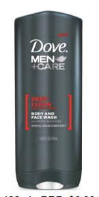 Dove Men + Care Deep Clean Face and Body Wash