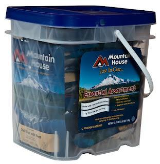 New from Mountain House: 25-Year Pouches in Buckets! ... Introductory Bargain Priced