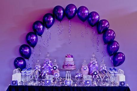 Purple Themed Party by The Velvet Lily Florist