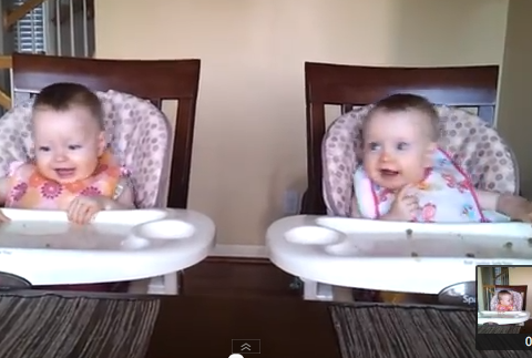 Identical twin baby girls LOVE their daddy on guitar