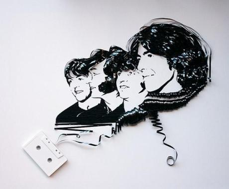 Celebrities Made Out Recycled Cassettes | Art
