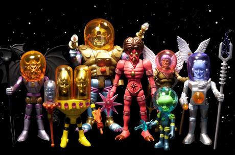They're Back! The Outer Space Men Return COOL action figures in blazing colorz | @4FourhorsemenDesign