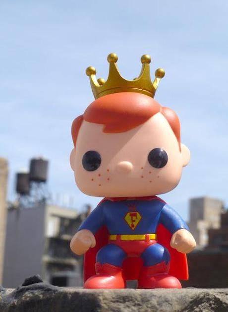 Super Freddy Funko Pop! leaping tall buildings
