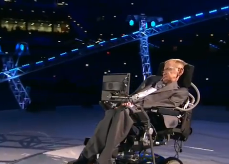 Stephen Hawking at the Paralympics