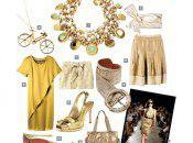 Fashionable Gold Dress Accessories Glamour-Filled Occasion