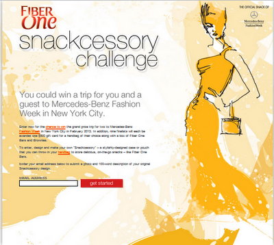 Fashion Snackcessory Challenge from Fiber One - Win a Trip for Two to Mercedes-Benz Fashion Week Fall 2013
