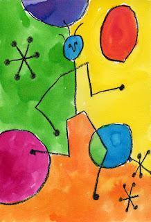 Miro Watercolor Painting