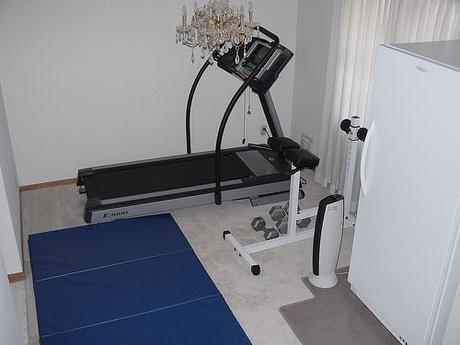 Workout area at home