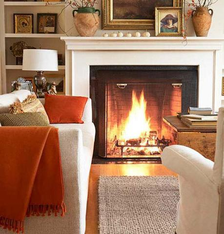 country living Fall Color ~ Designing with Orange and Prize Winner HomeSpirations