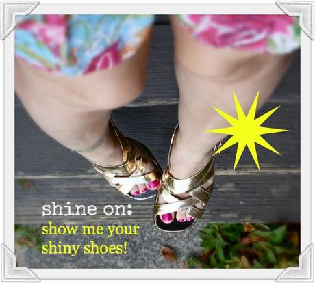 Shine On: Mirrored Leather Sandals