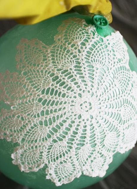 Diy Lace Doily Lamp Paperblog