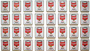 Campbell's Soup Cans by Andy Warhol, 1962. Dis...
