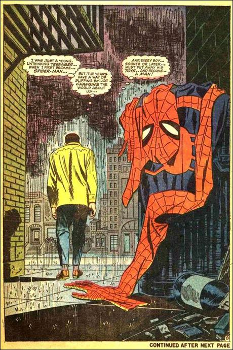 ... Comic Book Page – Amazing Spider-Man #50 by John Romita - Paperblog Ultimate Spider Man Peter Parker Costume