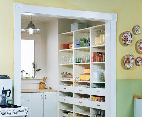 Time to re design the kitchen pantry paperblog for Modern walk in pantry