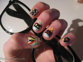 Going Hipster Nail Art
