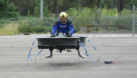 BMW Powered Twin-Rotor Hoverbike