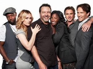 Alan Ball and some of the cast of True Blood