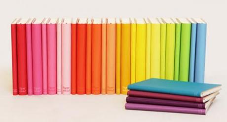 Colourful books from Made With Love stationery blog