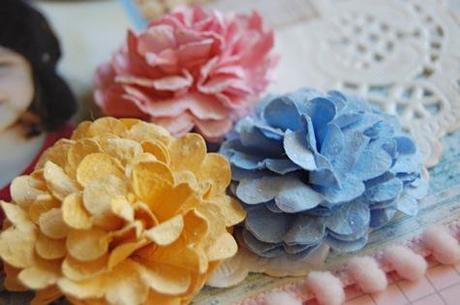 Cardstock flower tutorial by Christie Bryant