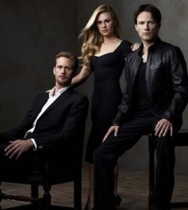 True Blood cast studio photos featuring Alexander Skarsgard, Anna Paquin, and Stephen Moyer